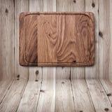 Деревянная текстура Деревянный конец разделочной доски кухни Стоковое Изображение
