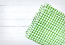 Деревянная текстура и зеленая текстура предпосылки ткани Стоковые Фотографии RF