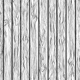 Деревянная текстура картина безшовная Черно-белая рук-притяжка иллюстрация штока