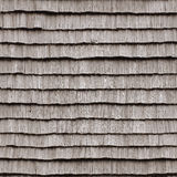 Деревянная текстура крыши на старом доме, плавно tileable предпосылке Стоковые Изображения