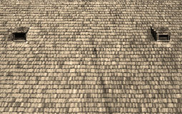 Деревянная текстура крыши Стоковое Изображение