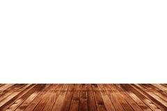 Деревянная текстура пола изолированная на белой предпосылке Стоковое Фото