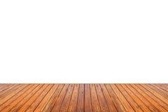 Деревянная текстура пола изолированная на белой предпосылке Стоковые Изображения RF