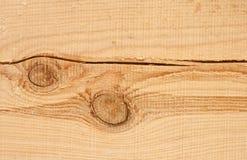 Деревянная текстура предпосылки и узел и большой отказ на планке Стоковые Фотографии RF