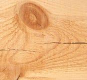 Деревянная текстура предпосылки и узел и большой отказ на планке Стоковые Изображения RF