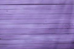 Деревянная текстура предпосылки в довольно фиолетовом Стоковая Фотография RF