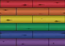 Деревянная текстура - радуга стоковые изображения rf