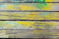 Деревянная текстура Старая винтажная деревянная поверхность с краской Стоковое Изображение RF