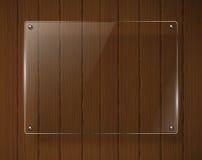 Деревянная текстура с стеклянными рамками Стоковые Изображения RF