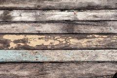 Деревянная текстура с треснутой пастельной краской Стоковая Фотография RF