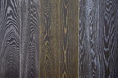 Деревянная текстура Черная предпосылка доски Оно покрашено бронзой и белой патиной стоковая фотография