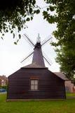 Деревянная традиционная ветрянка Стоковое Изображение RF