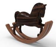 Деревянная тряся лошадь Стоковые Изображения