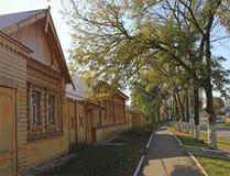 Деревянная улица архитектуры стоковые фото