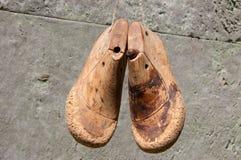 Деревянная форма ботинка Стоковое Изображение RF