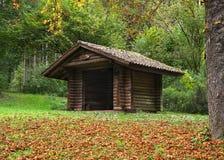 Деревянная хата в лесе в Glatter Taele, Германии стоковые фотографии rf