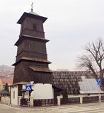 Деревянная церковь в городе Uzice Стоковая Фотография