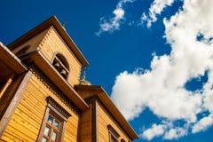 Деревянная церковь в Якутске Стоковое Изображение
