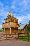 Деревянная церковь в Kolomenskoe - Москве России Стоковые Изображения RF