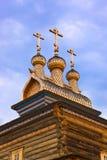 Деревянная церковь в Kolomenskoe - Москве России Стоковое Изображение RF