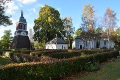 Деревянная церковь в Ludvika, Швеции, Европе Стоковые Изображения