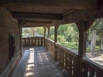 Деревянная церковь, деревня Jercălăi, Prahova County Стоковые Фотографии RF