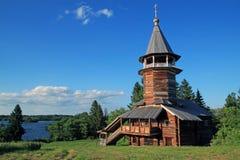 Деревянная церковь на острове Kizhi Стоковая Фотография