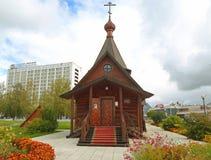 Деревянная церковь принца Александра Nevsky St Стоковые Изображения