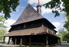 Деревянная церковь St Roch в деревне Grodzisko Стоковая Фотография RF
