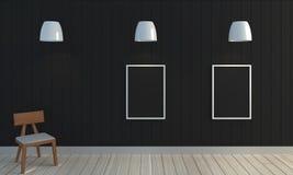 Деревянная черная предпосылка стены цвета Стоковые Фото
