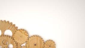 Деревянная шестерня Иллюстрация вектора