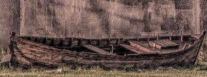 Деревянная шлюпка Стоковые Изображения RF