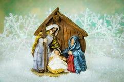 Деревянная шпаргалка рождества Стоковая Фотография