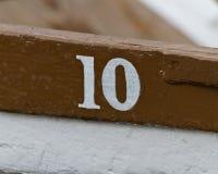 Деревянная шлюпка 10 на Thorpeness Meare Стоковые Изображения
