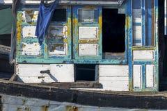 Деревянная шлюпка Windows Стоковое Изображение