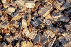Деревянная щепка рециркулированная древесина дружественный к Эко обрабатывать стоковая фотография