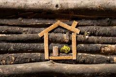 Деревянная дом Стоковое фото RF
