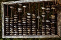деревянное абакуса старое Стоковая Фотография RF