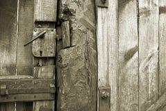 деревянное античной двери ржавое Стоковое Фото