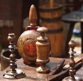 деревянное буфета старое Стоковая Фотография