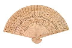 деревянное вентилятора востоковедное Стоковое фото RF