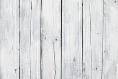 деревянное выдержанное планкой белое Стоковые Изображения