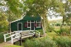 деревянное голландской дома традиционное Стоковая Фотография RF