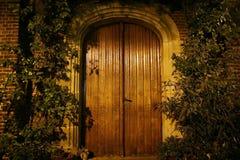 деревянное дверей старое Стоковое Изображение RF