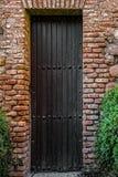 деревянное двери средневековое стоковые фото
