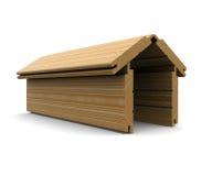 деревянное дома доск штабелированное формой Стоковая Фотография RF
