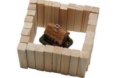 деревянное дома загородки страны огромное Стоковые Изображения RF