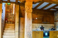деревянное дома нутряное стоковая фотография rf