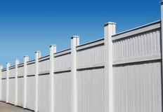 деревянное загородки белое Стоковое Изображение RF