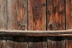 деревянное загородки горизонтальное старое Стоковое Изображение RF